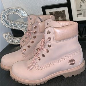 LIMITED EDITION rose gold & baby pink Timberlands